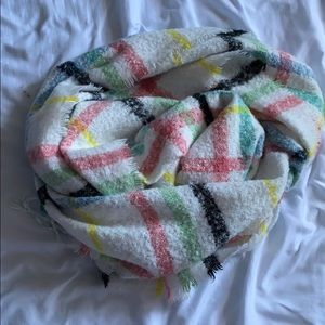 urban outfitters cozy plaid scarf